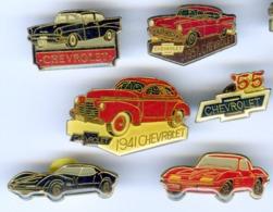 6 Pin's CHEVROLET Voiture Automobile - Corvette
