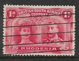 Southern Rhodesia / B.S.A.Co.1910, Doiuble Head,,1d Carmine-red,   Perf 14, Used - Rhodésie Du Sud (...-1964)