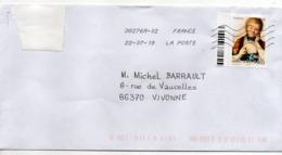 """2019-- Tp   """" Emilie Du Châtelet   """"  Seul Sur Lettre- - Marcophilie (Lettres)"""