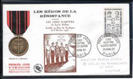 FDC 1959 - 1198  Héros De La Résistance(III): Les 5 MARTYRS Du LYCÉE BUFFON - FDC
