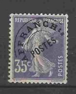 Préoblitéré Yvert N° 62 - 35c Semeuse Violet Oblitéré - Préoblitérés