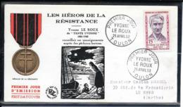 FDC 1959 - 1199  Héros De La Résistance(III): Yvonne LE ROUX - FDC