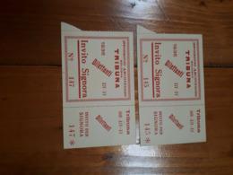 1936 FASCISMO - 2 BIGLIETTI INVITO PER SIGNORA IPPODROMO ARCOVEGGIO BOLOGNA - Match Tickets