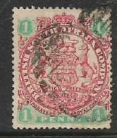 Southern Rhodesia / B.S.A.Co.1896 Arms, 1d,,used, BONC , Unreadable Number - Southern Rhodesia (...-1964)