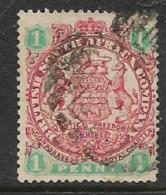Southern Rhodesia / B.S.A.Co.1896 Arms, 1d,,used, BONC , Unreadable Number - Rhodésie Du Sud (...-1964)