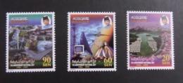 Brunei 1999 S#538-541 15th Anniv. Of National Day MNH Aircraft Computer Satellite - Brunei (1984-...)