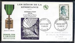 FDC 1959 - 1200  Héros De La Résistance(III): Médéric VÉDY - FDC
