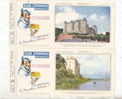 Buvard , FLAN LYONNAIS ,entremets ,Toulon ,série B ,chateaux De La Loire,n° 13,15 Et 20 , LOT DE 3 BUVARDS - Cake & Candy