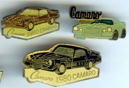 3 Pin's CHEVROLET CAMARO Voiture Automobile - Corvette