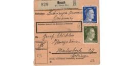 Allemagne  - Colis Postal  - Départ Moosch (  ( Kr. Thann Els.  ) - Allemagne