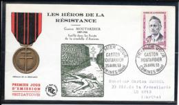 FDC 1959 - 1202  Héros De La Résistance(III): Gaston MOUTARDIER - FDC