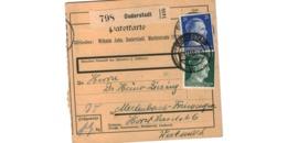 Allemagne  - Colis Postal  - Départ Duderstadt - Allemagne