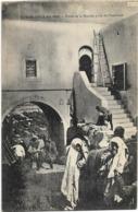 MAROC - CASABLANCA - PORTE DE LA MARINE PRISE DE L'INTERIEUR - Plusieurs Personnes - Casablanca