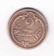 2 HELLER 1897  OOSTENRIJK /6491// - Autriche