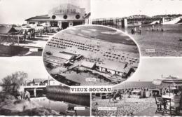 VIEUX-BOUCAU - LANDES - (40) - CPSM MULTIVUES DENTELÉE - BEL AFFRANCHISSEMENT POSTAL - Vieux Boucau