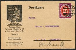 (1880) BINGEN 18.5.1920, Wein Essig Fabrik, Nach Linz, Qualitäts Essige, Nationalversammlung, Werbekarte - Briefe U. Dokumente