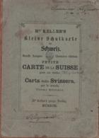 Karte Von Der Schweiz Für Schulen - Petite Carte De La Suisse Pour Les écoles - 1857 -  Sur Tissu - Topographical Maps