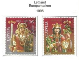 Lettland / Latvija  1995  Mi.Nr. 414 / 415 , EUROPA CEPT - Frieden Und Freiheit - Gestempelt / Fine Used / (o) - Europa-CEPT