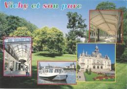 CPM. VICHY ET SON PARC . CARTE AFFR AU VERSO LE 19-8-1998 . 2 SCANES - Vichy