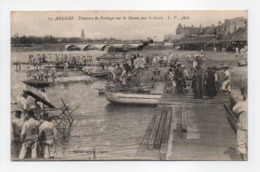 - CPA ANGERS (49) - Travaux De Pontage Sur La Marne Par Le Génie 1917 (belle Animation) - Photo L. V. N° 15 - - Angers