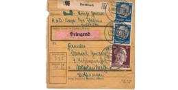 Allemagne  - Colis Postal  - Départ Hersbruck  - 19-10-43 - Allemagne