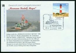 ER Germany, BRD Cover With Special Cancel | Dortmund 22.4.2009, Intermodellbau, Seenotkreuzer Hermann Rudolf Meyer - Brieven En Documenten