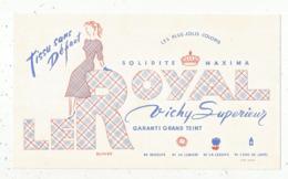 Buvard , Tissu  LE ROYAL , Vichy Supérieur ,frais Fr 1.75 E - Vestiario & Tessile