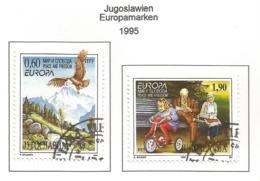 Jugoslawien 1995  Mi.Nr. 2712 / 2713 , EUROPA CEPT - Frieden Und Freiheit - Gestempelt / Fine Used / (o) - Europa-CEPT