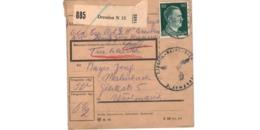 Allemagne  - Colis Postal  - Départ Dresden  - 11-11-43 - Allemagne