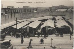 MAROC - CASABLANCA - LE MARCHE - Véhicule Ancien-Charrettes-Calèches-Vélo - Casablanca
