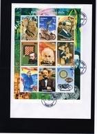 Guinea 1998, XXth Century, Art, Picasso, Car, Chess, Marconi, Rotary, Scout, Einstein, 9val In BF In FDC - Albert Einstein