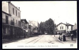 CPA ANCIENNE FRANCE- CANNES (06)- LA BOCCA EN ÉTÉ- ROUTE NATIONALE TRAMWAY- ANIMATION- COMMERCES - Cannes