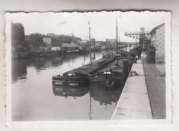 Bassin Bruxelles - Péniches - Aken - 1957 - Photo 6 X 9 Cm - Schiffe