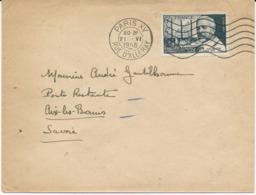 LETTRE  1948 AVEC TIMBRE A SURTAXE 6 FR + 4 FR CALMETTE - Storia Postale