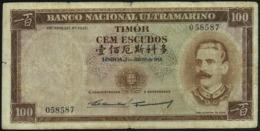 TIMOR - 100 Escudos 02.01.1959 {Banco Nacional Ultramarino} VG P.24 A(5) - Timor
