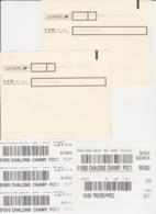 Lot étiquettes De Tri Mécanisé Pour Sachet & Caissette Centre De Tri De 56 Vannes CTC + 10 Troyes Ppdc + 51 Chalons PDC1 - Marcofilia (sobres)
