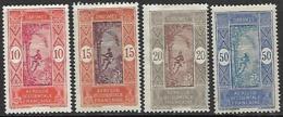 Dahomey  1913-22  Sc#47, 50, 51, 65  4 Diff MH To The 50c  2016 Scott Value $4.80 - Dahomey (1899-1944)