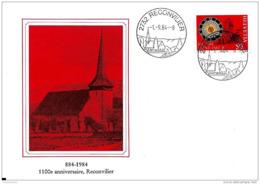 113 - 10 - Enveloppe Avec Oblit Illustrée De Reconvilier 1984 - Marcophilie