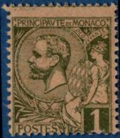 Monaco 1891 Prince Albert I 1c Tinted Paper MNH - Ongebruikt