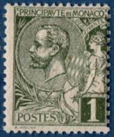 Monaco 1891 Prince Albert I 1c MNH White Paper - Monaco