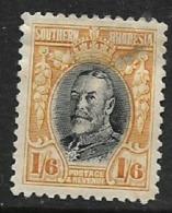 Southern Rhodesia 1936, GVR, 1/6, Field Marshal,perdf 12, MH*, Thinned - Southern Rhodesia (...-1964)