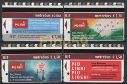 Roma, 2014-17, Metrebus, Più Libri Fiera Della Piccola E Media Editoria, 4 Biglietti - Metro
