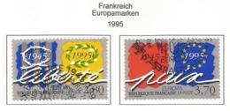 Frankreich  1995  Mi.Nr. 3084 / 3085 , EUROPA CEPT - Frieden Und Freiheit - Gestempelt / Fine Used / (o) - Europa-CEPT