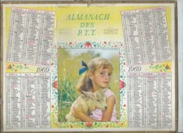 ALMANACH DES POSTES  1969 ( CALENDRIER ) ABANDON - Calendriers