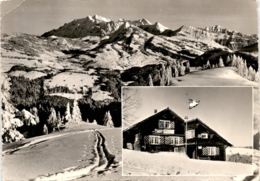 Skihaus Stangen - Skiklub Ebnat-Kappel - 2 Bilder * 20. 1. 1965 - SG St. Gallen