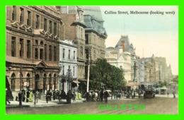 MELBOURNE, AUSTRALIE - ANIMATED COLLINS STREET, LOOKING WEST - V. S. M. - - Melbourne