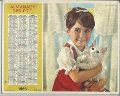 ALMANACH DES POSTES  1966 ( CALENDRIER ) TENDRESSE / CAMARADERIE - Calendriers
