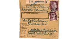 Allemagne  - Colis Postal  - Départ Wesermünde  -   6-3-43 - Allemagne