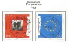 Deutschland  1995  Mi.Nr. 1790 / 1791 , EUROPA CEPT - Frieden Und Freiheit - Gestempelt / Fine Used / (o) - Europa-CEPT
