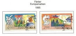 Färöer  1995  Mi.Nr. 278 / 279 , EUROPA CEPT - Frieden Und Freiheit - Gestempelt / Fine Used / (o) - Europa-CEPT